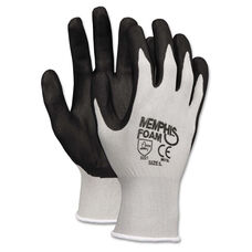Memphis™ Economy Foam Nitrile Gloves - Large - Gray/Black - 12 Pairs
