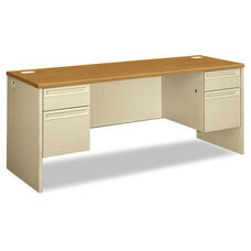 HON® 38000 Series Kneespace Credenza - 72w x 24d x 29-1/2h - Harvest/Putty