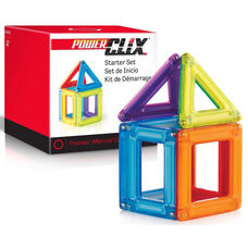 PowerClix Frames Starter Magnetic Building Set with Fun Colorful Poster - 6 Piece Set - 2.5
