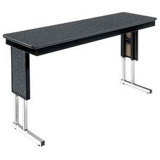 Customizable Symposium Adjustable Height Training Table with Chrome Legs - 18
