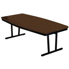 Customizable Boat Shaped Economy Conference Table - 30-36''W x 72''D x 30''H