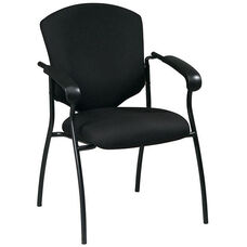 Work Smart Distinctive Executive Guest Chair with Steel Frame