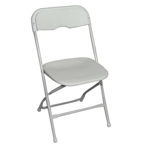 Champ Series Versatile Resin Wedding Folding Chair with Foot Caps - Bright White