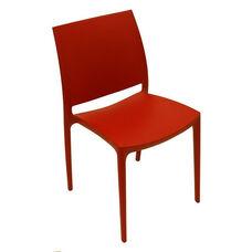 Martinique Lightweight Indoor/ Outdoor Stackable Side Chair - Red