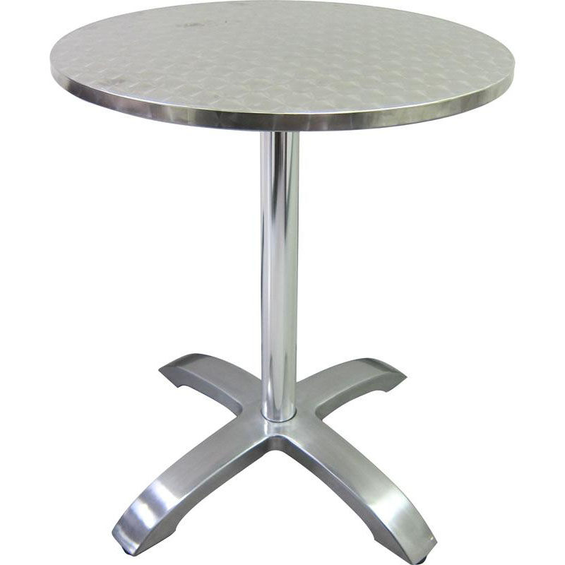 Hu0026D Restaurant Supply Stainless Steel Round Table Top With Aluminum Base  760R | Bizchair.com