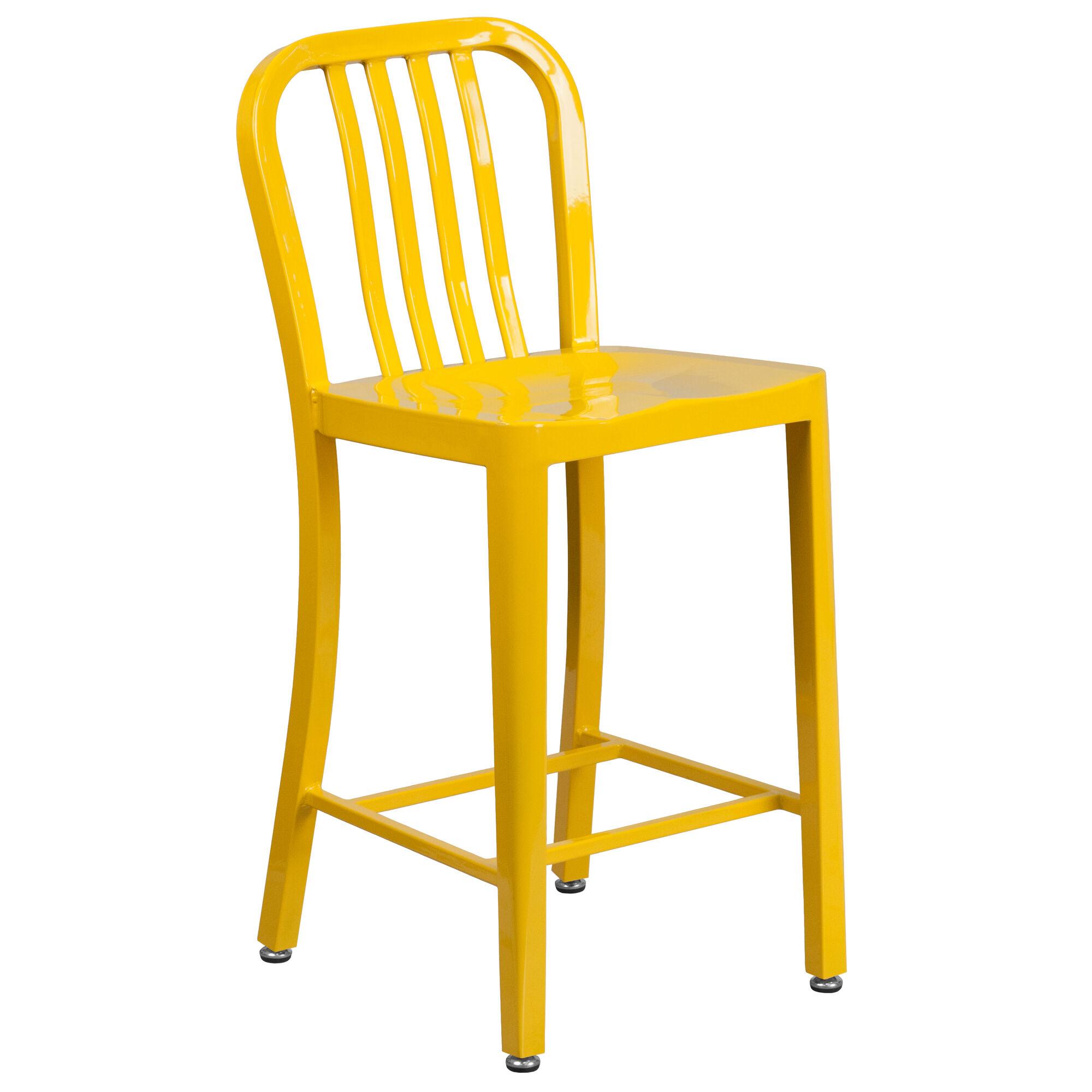 Flash Furniture 24 High Yellow Metal Indoor Outdoor