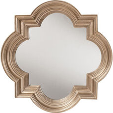 OSP Designs Gatsby Wall Mirror with Platinum Gold Frame - Silver