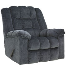 Signature Design by Ashley Ludden Rocker Recliner in Blue Twill