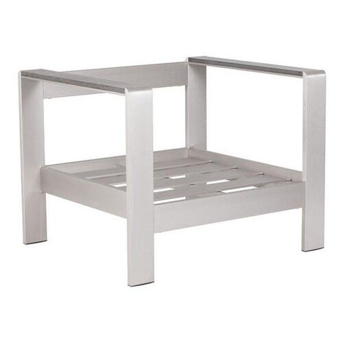 Our Cosmopolitan Arm Chair Frame in Brushed Aluminum is on sale now.