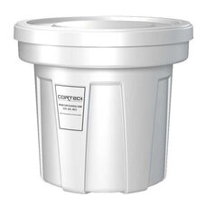 22 Gallon Cobra Food Grade/General Use Trash Can - White
