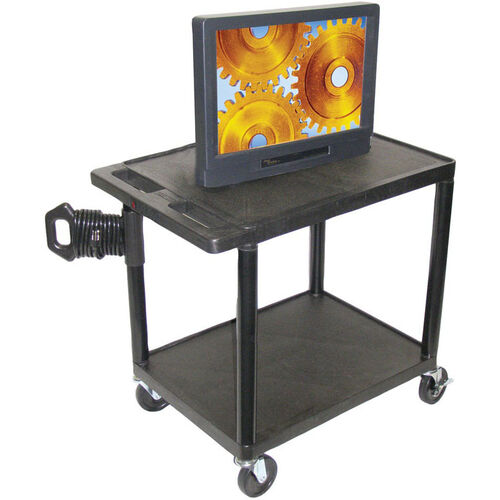 Endura 2 Shelf Mobile A/V Cart - Black - 32