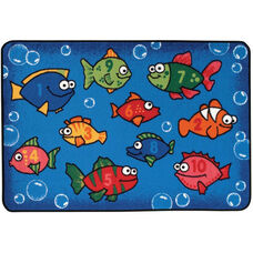 Kids Value Something Fishy Rectangular Nylon Rug - 48