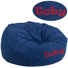 Personalized Oversized Denim Bean Bag Chair for Kids and Adults