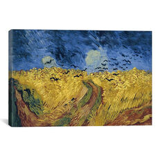 Wheatfield with Crows by Vincent van Gogh Gallery Wrapped Canvas Artwork