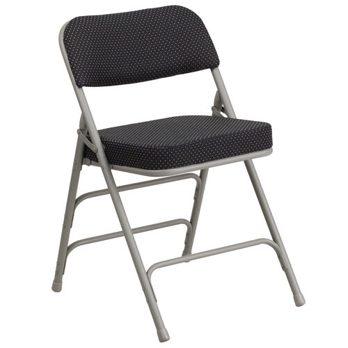 """Our HERCULES Series 18""""W Premium Curved Triple Braced & Hinged Fabric Upholstered Metal Folding Chair is on sale now."""
