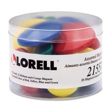 Lorell Magnets - 30 - 12 Sm/12 Md/ 6 Lg - Assorted