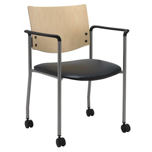 Our 1300 Series Stacking Guest Armchair With Natural Wood