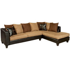 Riverstone Sierra Chocolate Microfiber Sectional with Right Side Facing Chaise