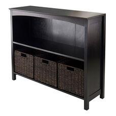 Terrace 4-Pc Storage 3-Tier Shelf with 3 Small Baskets