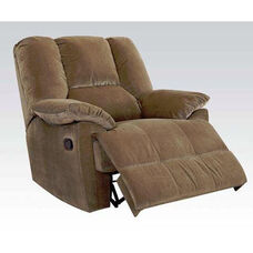 Oliver Transitional Style Corduroy Glider Recliner with Hand Latch - Sage