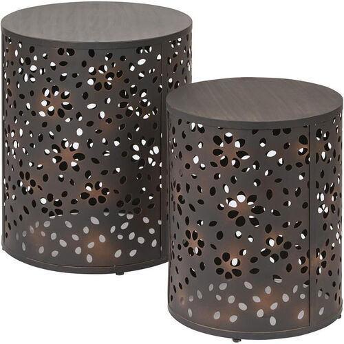 Our OSP Designs Middleton 2 Piece Set Round Accent Tables - Antique Bronze is on sale now.