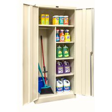 800 Series One Wide Single Tier Double Door Combination Cabinet Assembled - Parchment Finish - 36