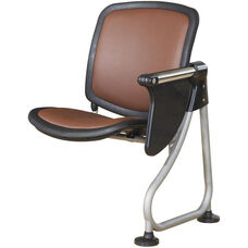 Ready Link Row Add-On Chair with Tablet - Maroon