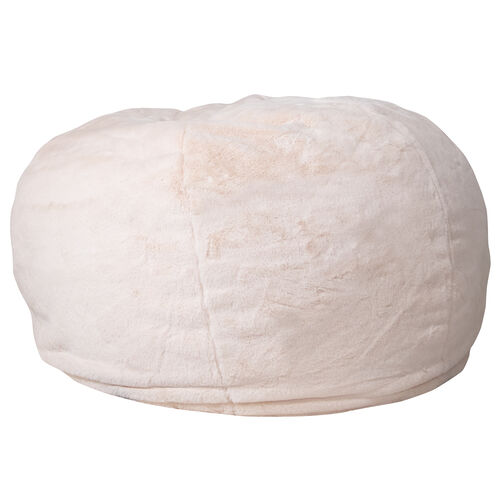 Our Oversized White Furry Bean Bag Chair for Kids and Adults is on sale now.