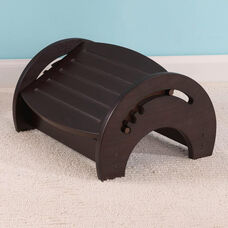 Wooden Adjustable Stool for Nursing with Anti-slip Pads on the Base - Espresso