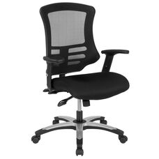 High Back Black Mesh Multifunction Executive Swivel Ergonomic Office Chair with Molded Foam Seat and Adjustable Arms