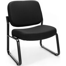 Big & Tall Guest and Reception Fabric Chair - Black