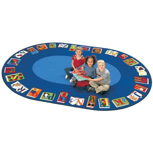 Reading By The Book ABC Circular Seating Oval Nylon Rug - 81
