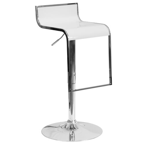 Our Contemporary White Plastic Adjustable Height Barstool with Chrome Drop Frame is on sale now.