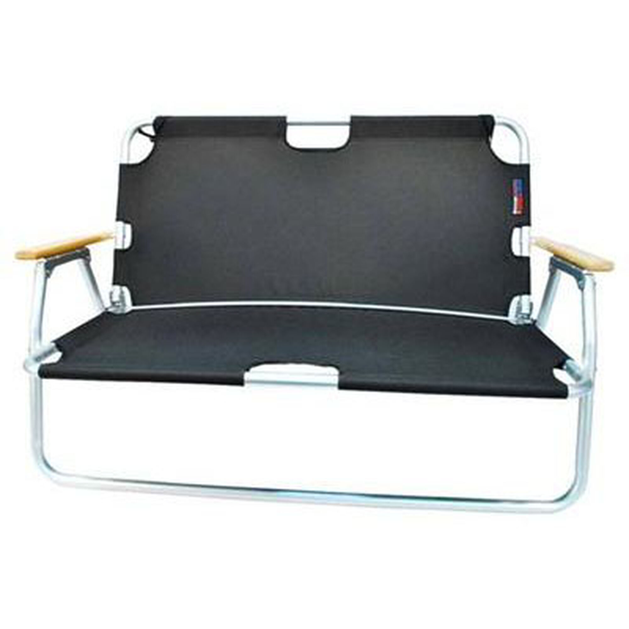 Images Our Two Person Folding Aluminum Frame Sport Couch