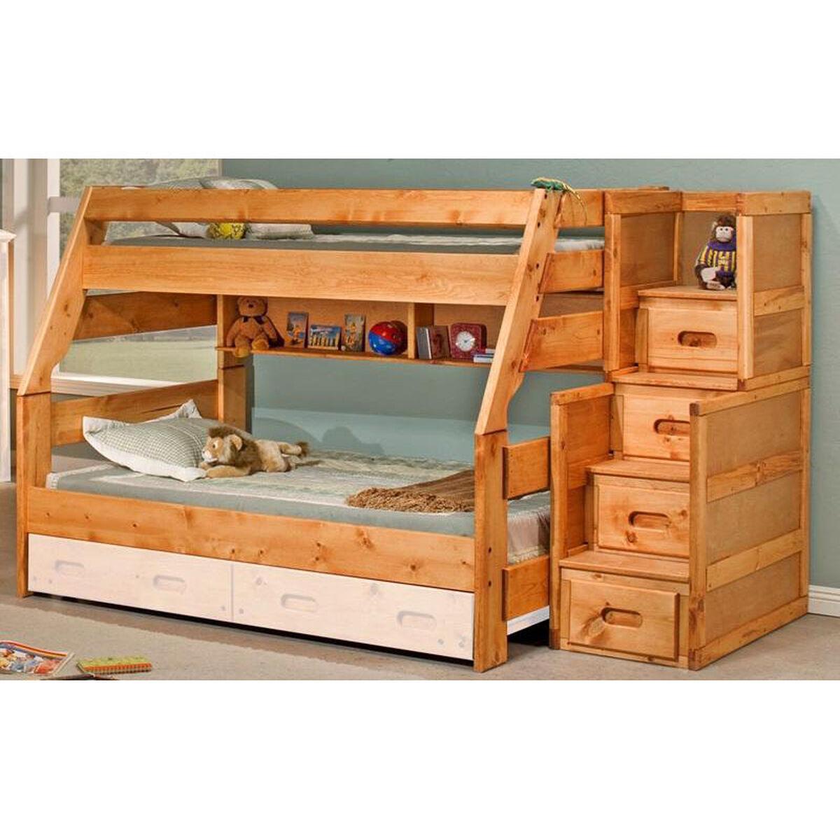 Pine Bunk Bed Twin Over Full 3544720 4754 Bizchair Com