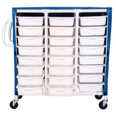 Specialty Cart with 24 Pull Out Tubs and Mesh Cover with Casters - 20