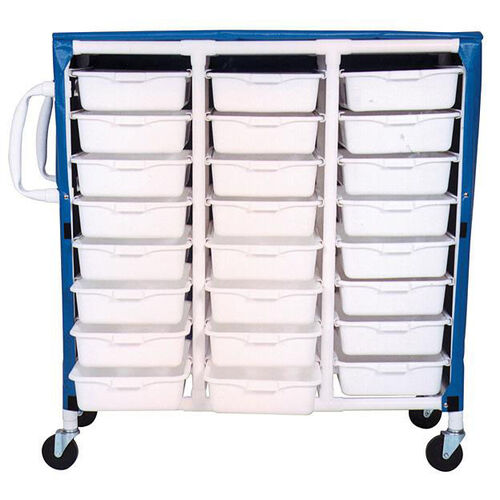 Our Specialty Cart with 24 Pull Out Tubs and Mesh Cover with Casters - 20