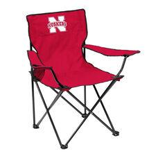 University of Nebraska Team Logo Folding Quad Chair