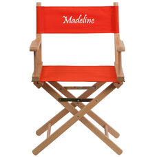 Embroidered Standard Height Directors Chair in Red