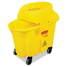 Rubbermaid® Commercial WaveBrake Institutional Bucket/Strainer Combo - 8.75gal - Yellow