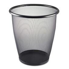 Safco® Onyx Round Mesh Wastebasket - Steel Mesh - 5gal - Black
