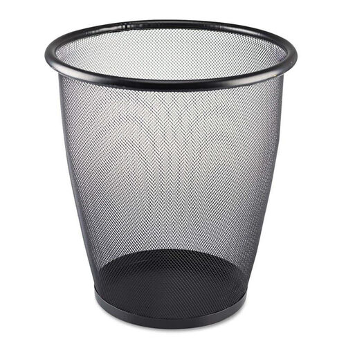 Our Safco® Onyx Round Mesh Wastebasket - Steel Mesh - 5gal - Black is on sale now.