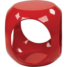 Ave Six Slick Modern Cube Occasional Table - Red