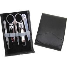 Manicure Kit - Genuine Leather - Black