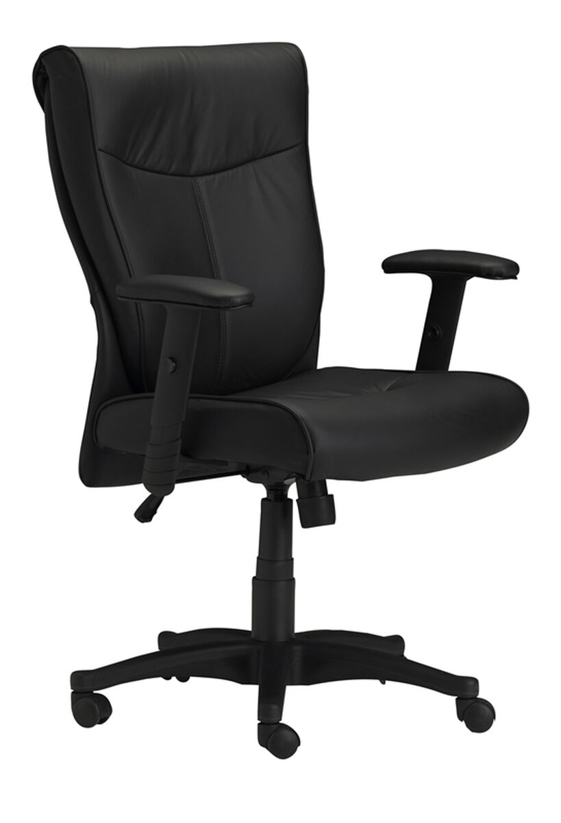 Mercado Adjustable Height Leather Arm Chair with ...