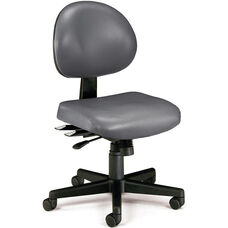 24 Hour Anti-Microbial and Anti-Bacterial Vinyl Task Chair - Charcoal