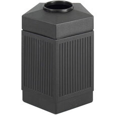 Canmeleon™ 45 Gallon Indoor or Outdoor Pentagon Receptacle - Black