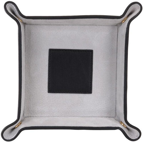 Our Suede Lined Catchall Valet Tray - Top Grain Nappa Leather - Black and Gray is on sale now.