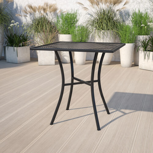 Commercial Grade Square Patio Table |Outdoor Steel Square Patio Table