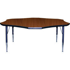 Flower Shaped Activity Table with Lotz Armor Edge and Anti-Gum Coated Phenolic Backer